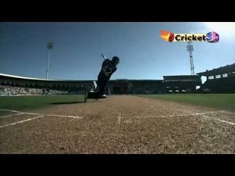 Video: Brendon McCullum hits a six in an unusual way