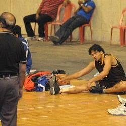 Post Game Stretches at Kanteerava Stadium, Bangalore. Photo Courtesy Srinivas Naik
