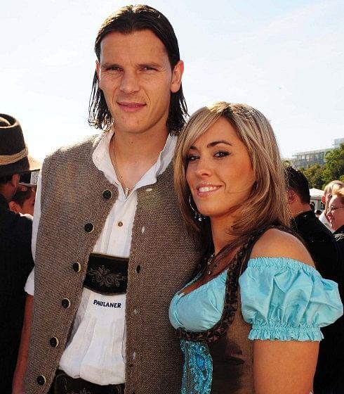 Daniel Van Buyten with Wife Celine Van Buyten