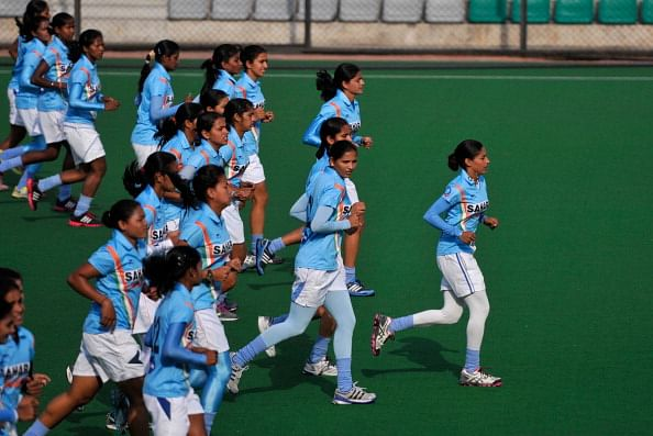 Indian Women Hockey Team Practice