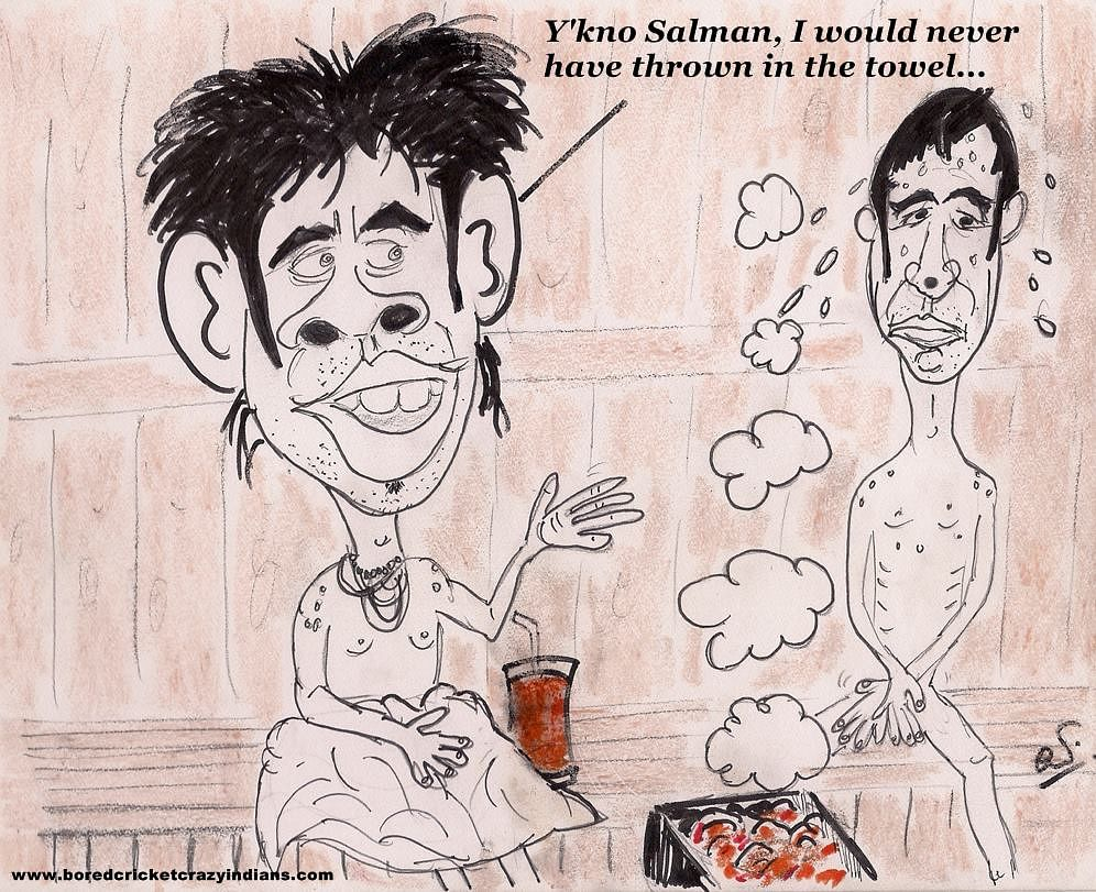Comic: Sreesanth and Salman Butt at the sauna