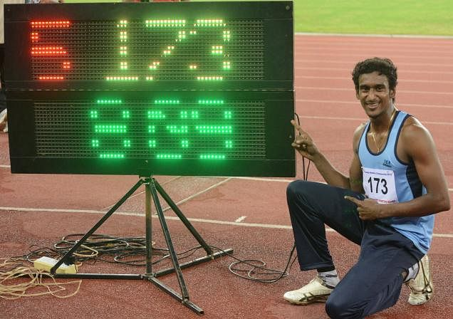 Swapna Barman breaks high jump national record