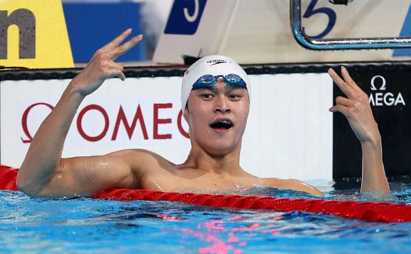 China's Olympian swimmer Sun Yang resumes training