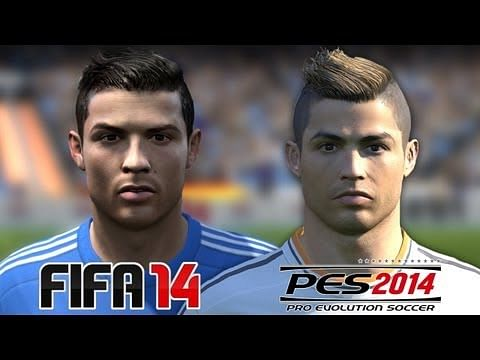 Video: FIFA 14 vs PES 14 - Real Madrid players face comparison