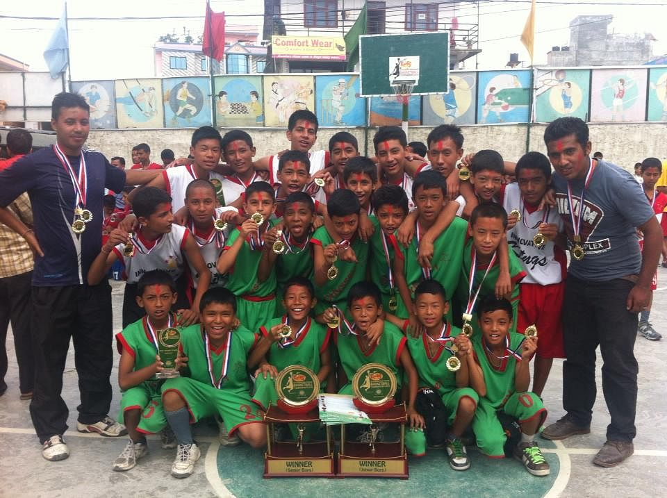 The Winners of the Greenland Inter-School Basketball Tournament