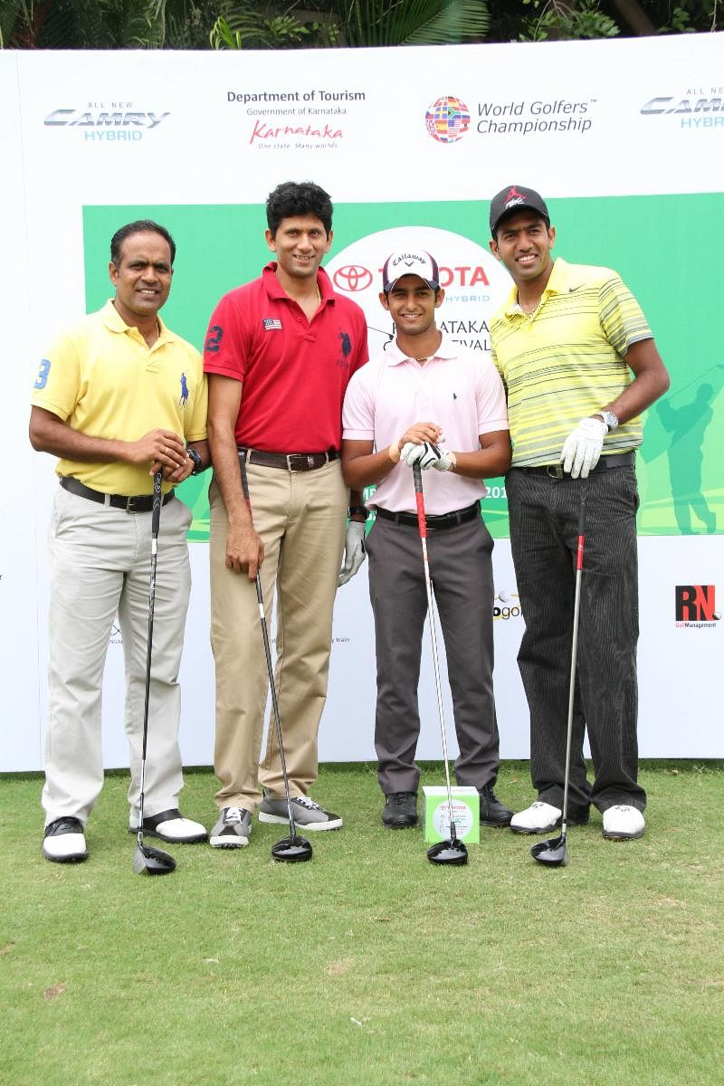David D'Souza upstages Vivek Varma on Day 1 of Toyota Karnataka Golf Festival