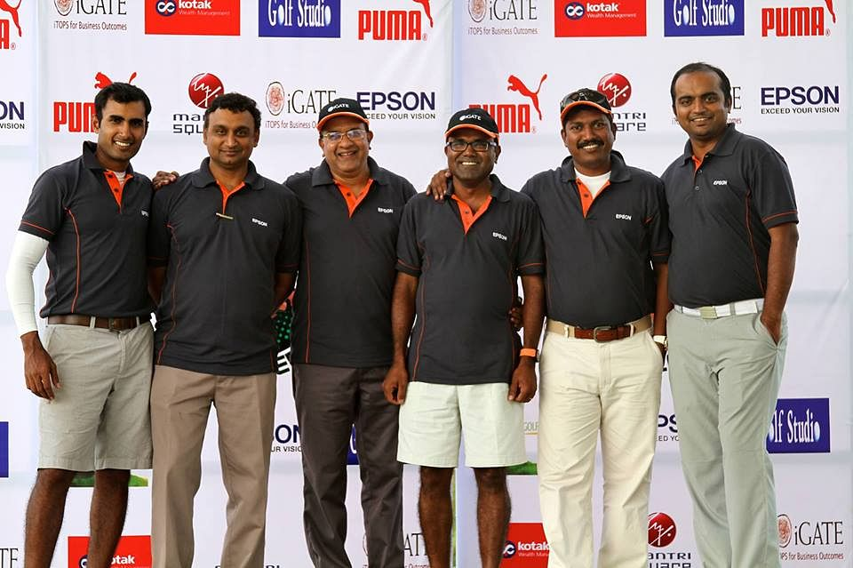 The members of the Bangalore Golfers Foundation (from left to right): Agastya, Rajiv, Raman, Saravanan, Illavarasan and Jibin