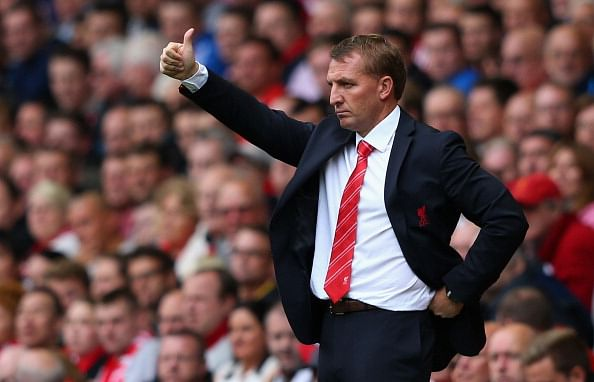 Brendan Rodgers's Liverpool side will be looking to keep up their 100% record