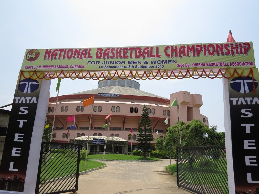It has begun! The Jawaharlal Nehru Indoor Stadium, Cuttak, one of the venues of 64th Junior Nationals.