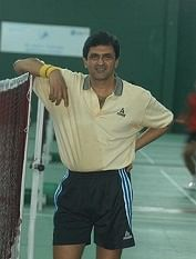 Prakash Padukone, former Badminton Player of India in Bangalore, Karnataka, India