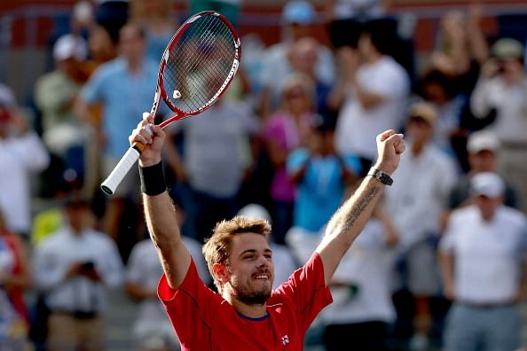 Wawrinka outlasts defending champion Djokovic