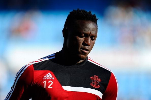 Victor Wanyama of Southampton looks on during the warm up prior to a ...