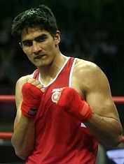 Boxer Vijender Singh Enters the Finals Of Commonwealth Boxing Championship