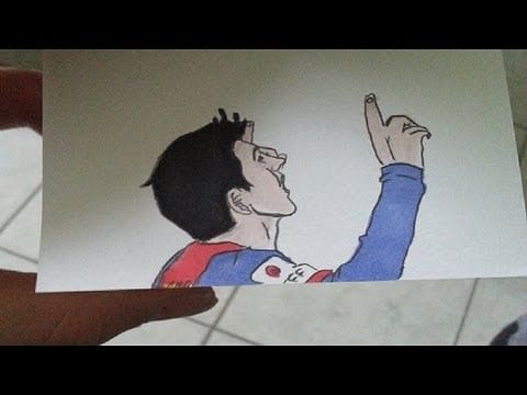 Video: Lionel Messi's skill on a flipbook