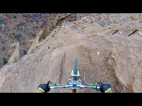 Red Bull Rampage 2013 - Kelly McGarry does an astonishing backflip over 72-foot-long canyon gap