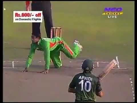 Video: Funny dismissal of Shahid Afridi