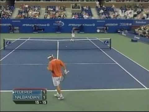 "Video: David Nalbandian's ""out of the book"" shot"