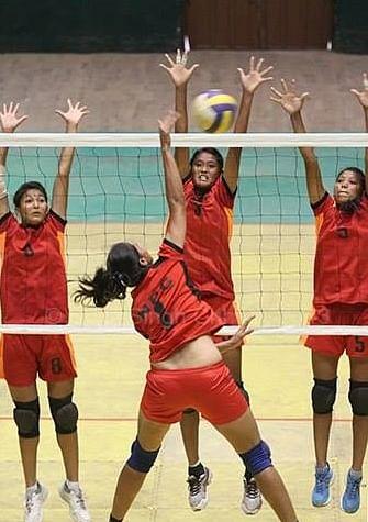 Railways thrash Rajasthan in national volleyball