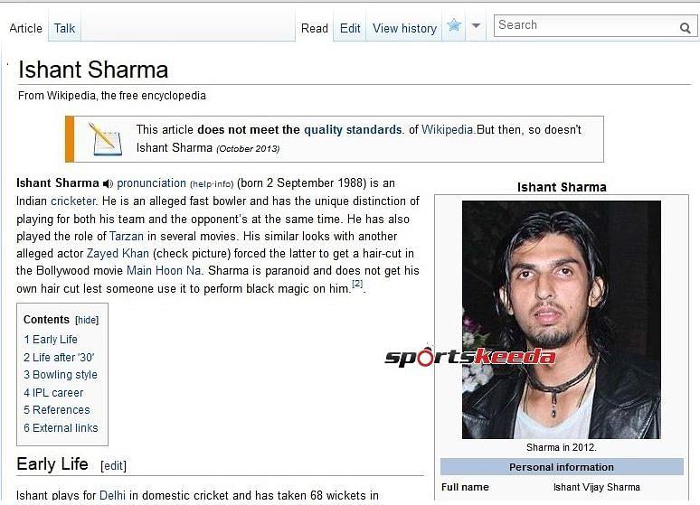Faker Wikipedia