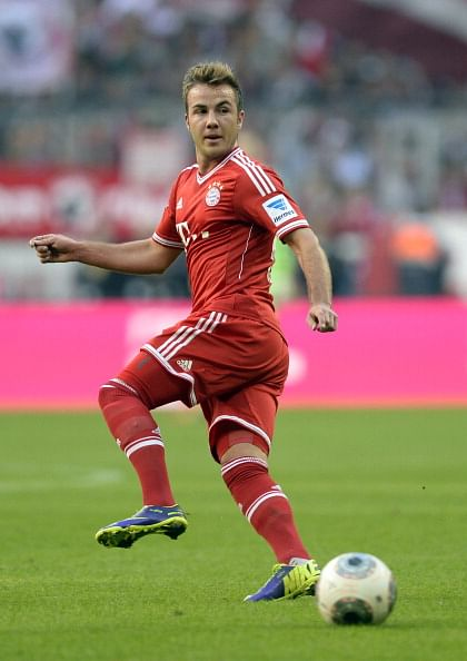 Mario Götze has his first gala performance in a FC Bayern Munich shirt