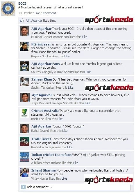 Fake FB Wall: BCCI congratulates a Mumbai legend on retirement