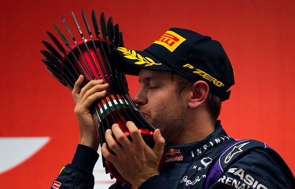 Four-midable Vettel clinches the title in India