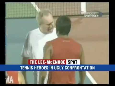 Video: Leander Paes and John McEnroe in on-court confrontation