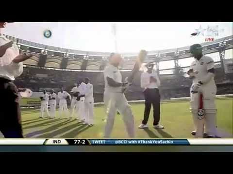 Video: Sachin Tendulkar getting guard of honour in his last Test match