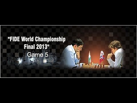 Live: World Chess Championship 2013 Game 5 - Viswanathan Anand vs Magnus Carlsen
