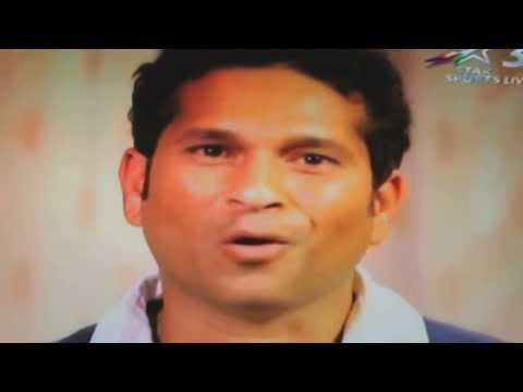 Video: Sachin Tendulkar's emotional message to his fans