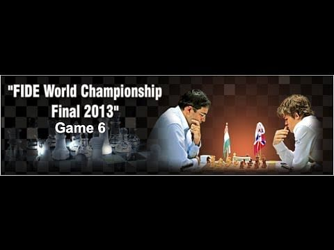 LIVE: World Chess Championship 2013 Game 6 - Viswanathan Anand vs Magnus Carlsen