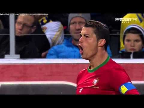 Video: Cristiano Ronaldo's mindblowing hat-trick against Sweden