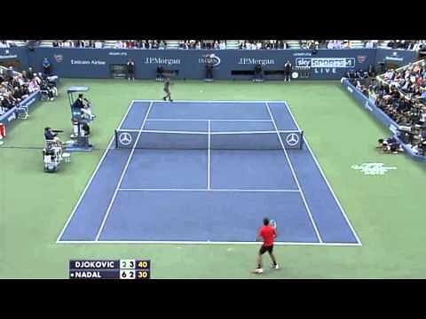 VIDEO: Long, long rally on break point - Novak Djokovic vs Rafael Nadal