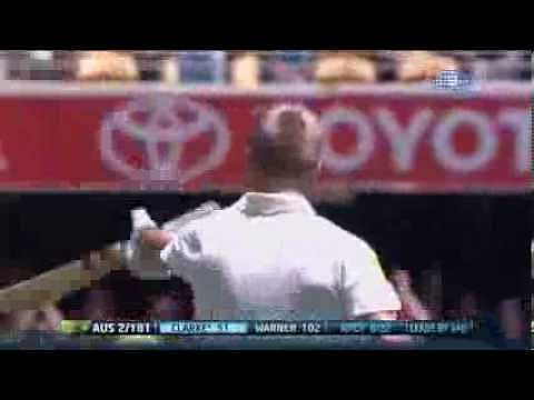 Video: David Warner brings up his first Ashes ton