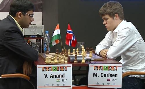 2013 FIDE World Chess Championship Game 2 - Viswanathan Anand and Magnus Carlsen play out draw
