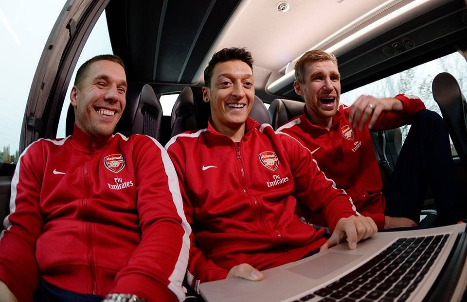 Image: Arsenal's three German musketeers