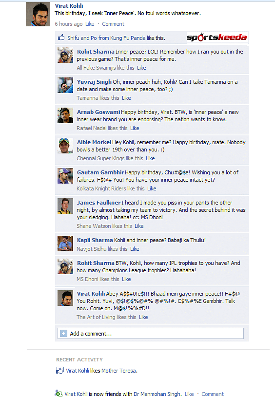 FB Wall: Players try to spoil Virat Kohli's birthday resolution