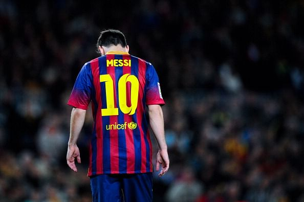 Barcelona's Lionel Messi out for 6-8 weeks with hamstring injury