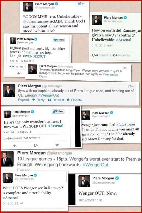 Piers Morgan and Arsenal – A tale of warning to MUFC fans