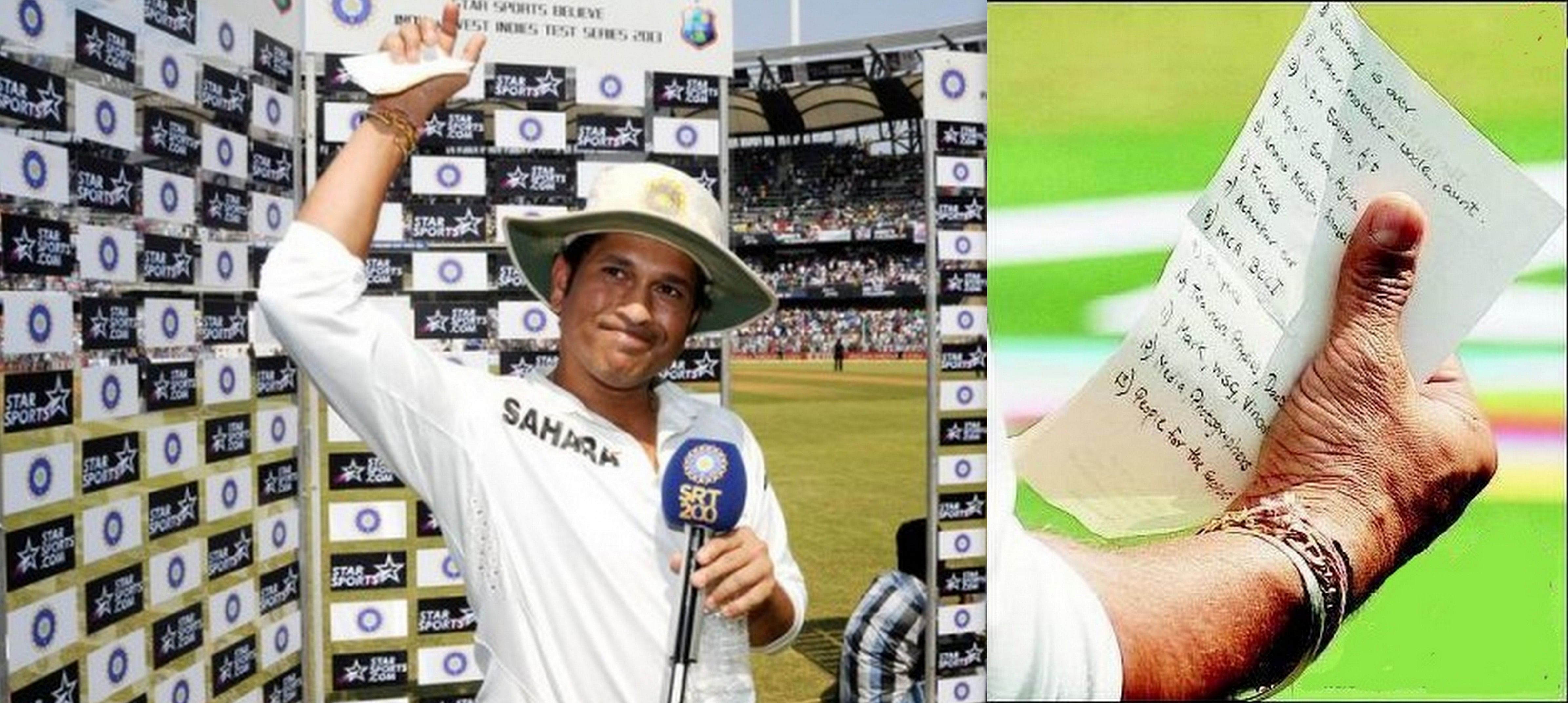 Notes from Sachin Tendulkar's farewell speech