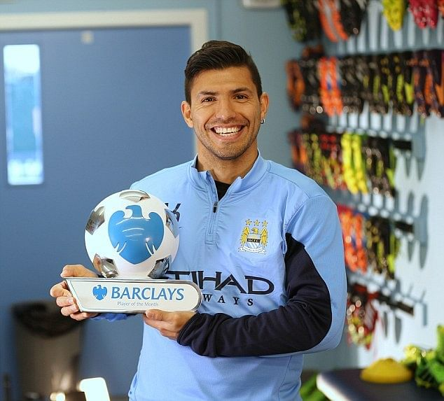 Argentinian double as Sergio Aguero and Mauricio Pochettino win Barclays Award for Player & Manager of the month