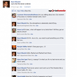 Fake FB Wall: Ravi Shastri tortures everyone on Facebook