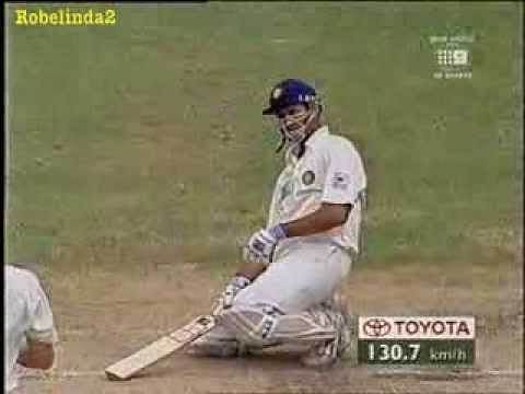 Video: VVS Laxman smashes Glenn McGrath for a boundary after getting hit on the head