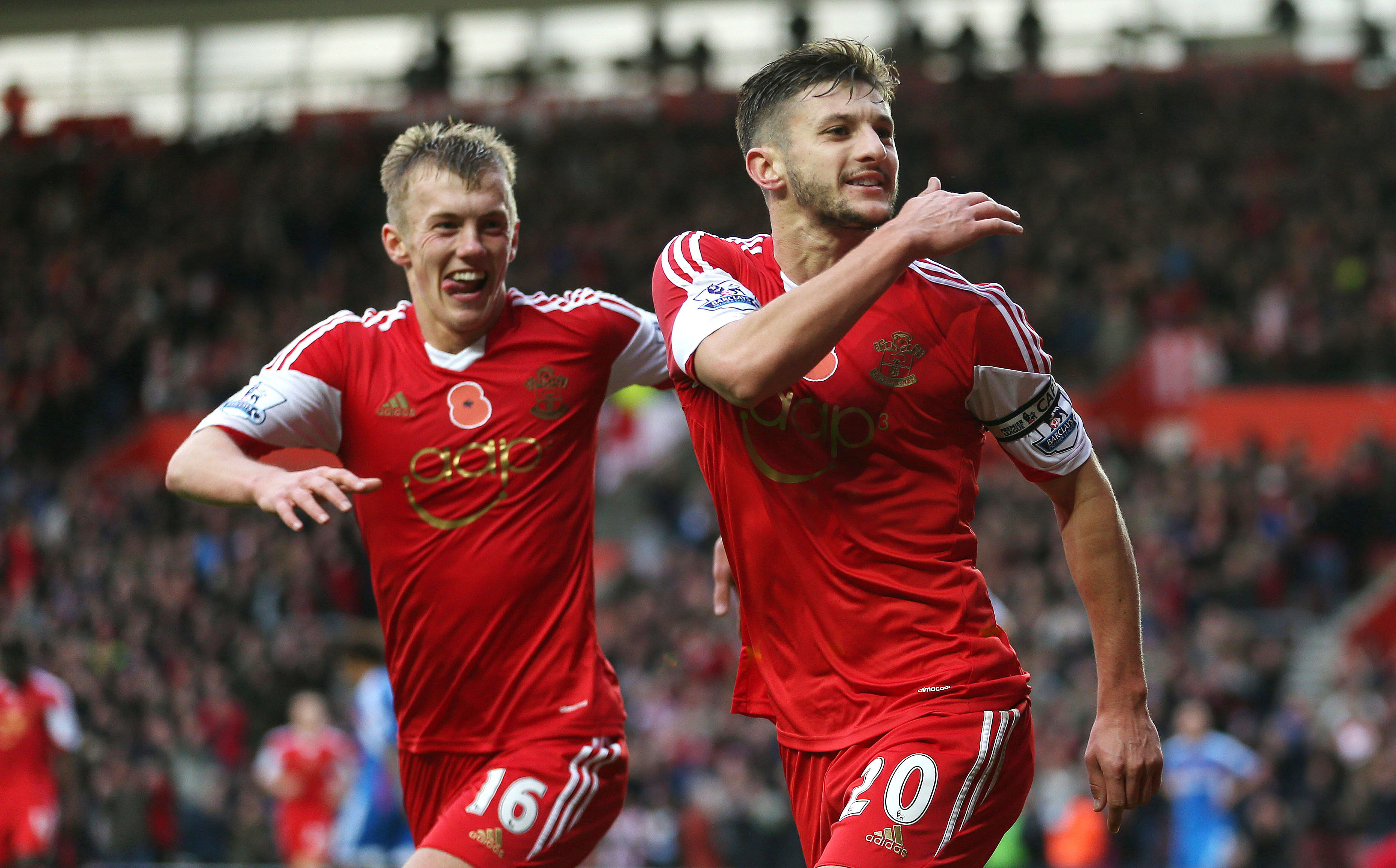 Rumour: Manchester United preparing to make a move for Adam Lallana and Luke Shaw
