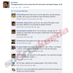 Fake FB Wall: Total mayhem on Dhoni's Facebook Wall