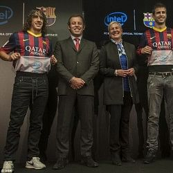 Barcelona sign first inside the shirt sponsorship deal with Intel