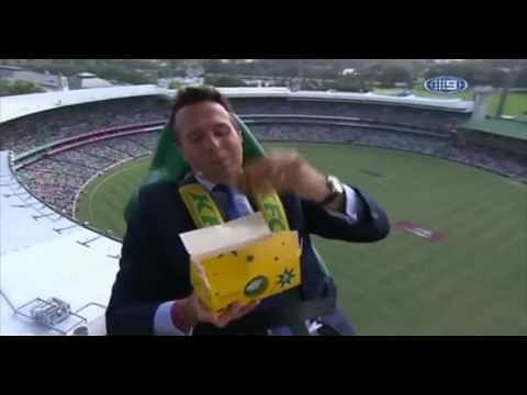 Video: Weirdest place to watch cricket from - hovering in mid air!