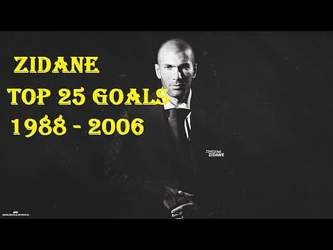 Video: Top 25 Zinedine Zidane goals