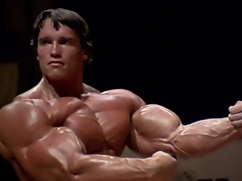 Arnold Schwarzenegger bodybuilding training - No pain, no gain