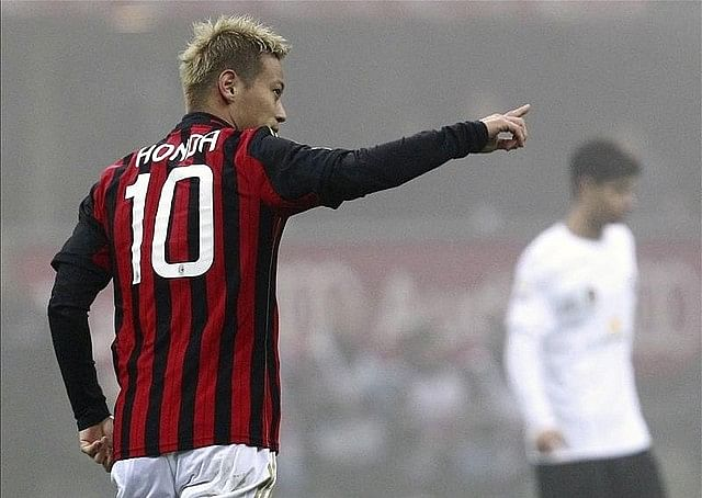 Milan's Honda to miss Napoli game
